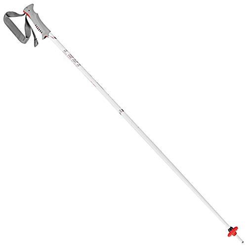LEKI Vista Skistöcke, Weiß/Silber/Neonrot, 125 cm