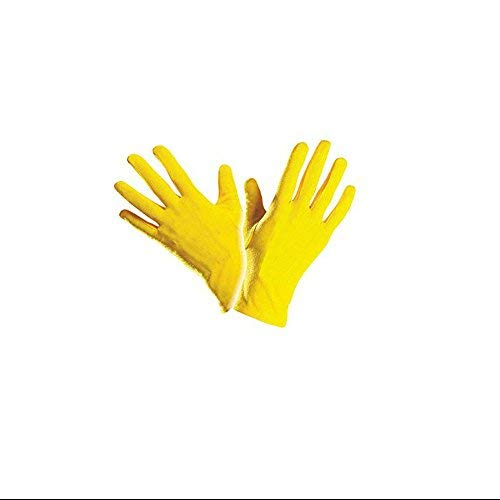 KarnevalTeufel Handschuhe gelb Clownhandschuhe, kurz, Accessoire