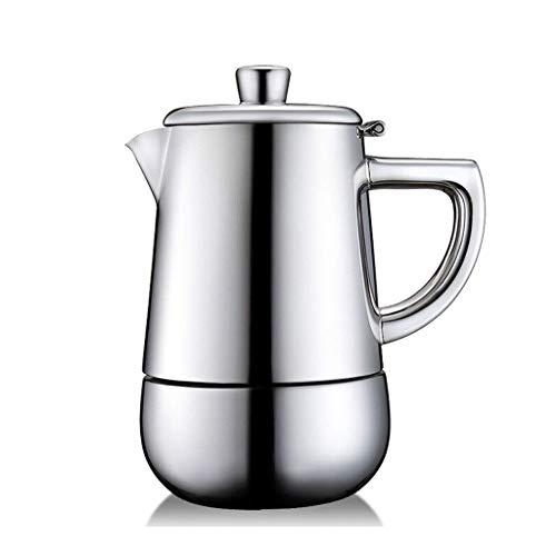 LLKK Cafetera de filtro de acero inoxidable, cafetera manual, cafetera eléctrica, cafetera doméstica (tamaño L: