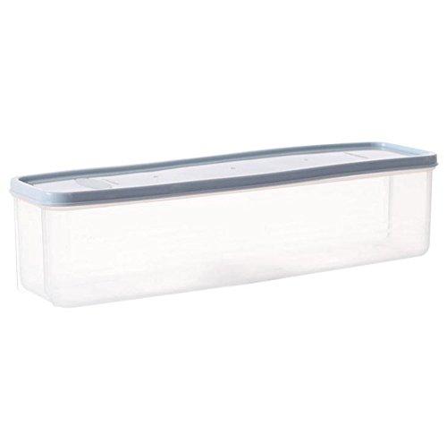 chytaii caja de conservación caja de espaguetis fideo caja de almacenamiento alimentos de plástico rectangular con protectora cocina frigorífico azul