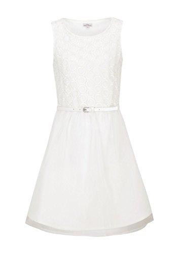s.Oliver Mädchen Kleid 60.502.82.2245, Einfarbig, Gr. 134, Elfenbein (Ecru 0120)