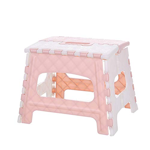 WYXR Klappbarer Fußhocker - Klapphocker - Sitzhocker - Klappstuhl für Camping, Garten, Terrasse und Balkon geeignet,Rosa