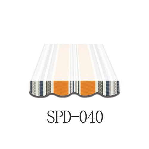Home & Trends Markisen Volant Markisenbespannung Ersatzstoffe Mehrfarbig Maße 4 x 0.23 m Markisenstoffen fertig genäht mit weißen Umrandung (SPD040)