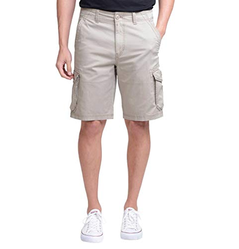 Unionbay Montego Cargo Shorts for Men Assorted Colors and Sizes - Comfort Stretch (32, Tan)