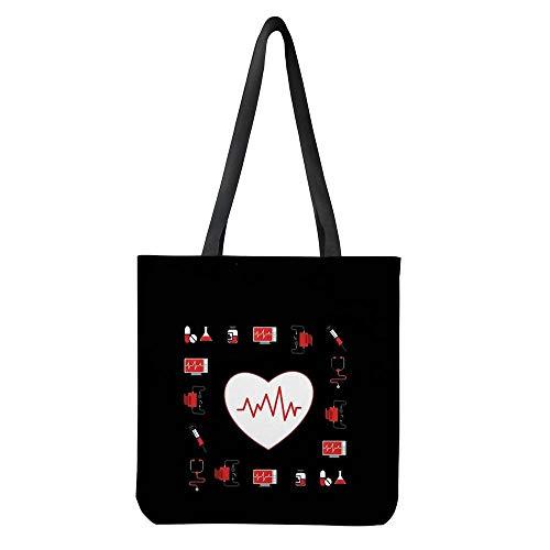 POLERO Nurse Bolsa de la compra, lona de algodón, bolsa de