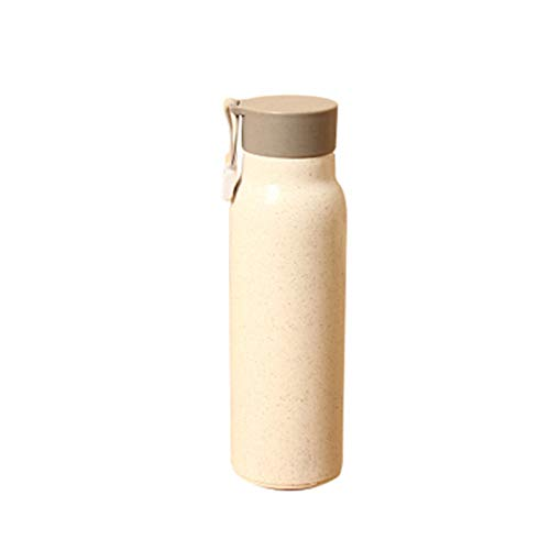CHENSHUNLI Estudiantes de Deportes al Aire Libre Botella de Agua Simple Botella de Agua Copa de Agua portátil Botella de Agua de Gimnasio (Color : Lotus Color, Size : 6.5x6cm)