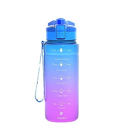 WYGOAKG Bottiglie di Acqua 1000 ml Capacità Acqua Potabile Portatile di Plastica Proteina Shaker My Sport Drink Bottiglia Bpa Free