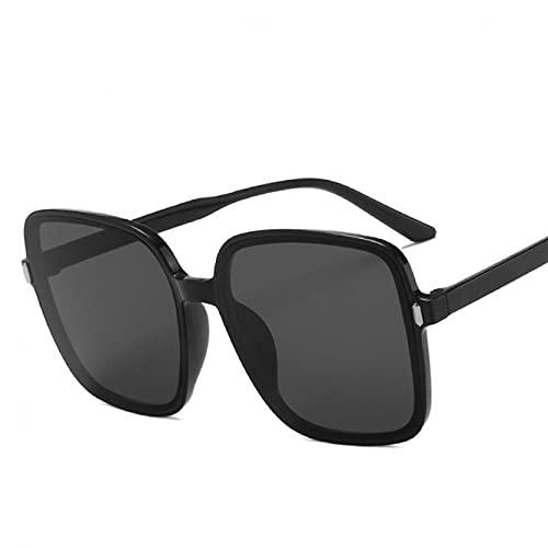 SXRAI Gafas de Sol para Mujer Gafas de Sol Gafas de Gran tamaño para Lady Uv400 Big Frame,C4