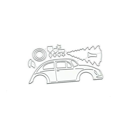 CAOLATOR Stanzen Schneiden Schablonen Auto Stanzmaschine Stanzschablone Stanzschablone Stanzformen für Scrapbooking Fotopapier Karten Handwerk Prägen