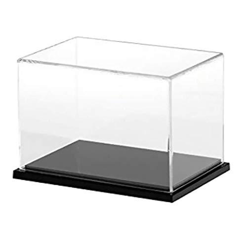 Backbayia Caja acrílico Transparente Vitrina de exposición Caja de anuncios Show Box para muñecas Modelo Figura, acrílico, 25x15x15cm