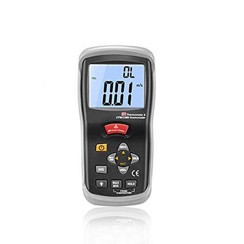 COOLSHOPY Handgehaltenes Anemometer mit digitalem Display, Windmenge, Windtemperaturmessgerät