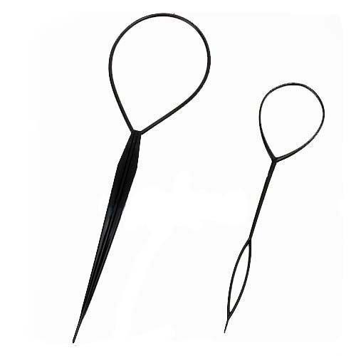 BONAMART 2pcs Haar Tail Twister Inhaber Frisurenhilfe Band Schwarz Dutt Styler Haartwister