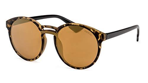 Filtral Gold verspiegelte Damen Sonnenbrille/Pantobrille mit Doppelsteg F3001039