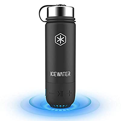 ICEWATER 3-in-1 Smart Stainless Steel Water Bottle(Glows to Remind You to Stay Hydrated)+Bluetooth Speaker+ Dancing Lights,20 oz,Stay Hydrated and Enjoy Music,Great Gift from ICEWATER PRODUCTS INC