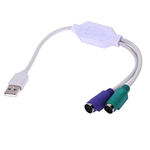 Demiawaking USB a PS2 Adattatore per Connettere Mouse e Tastiera Cavo