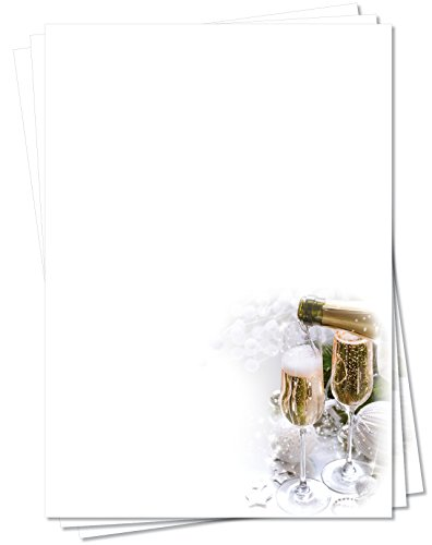 Motivpapier Briefpapier (Gastronomie-5160, DIN A4, 100 Blatt) - Gläser Sekt Champagner