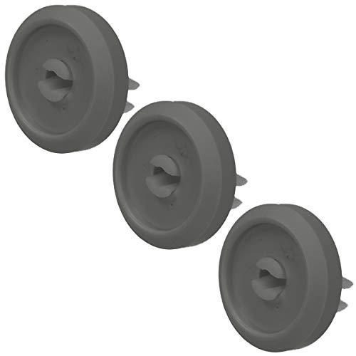 Spares2go - Rueda de cesta inferior compatible con Miele G1000, G2000, G200, G400, G600, G800, G900 Series Lavavajillas (34 mm, 3 unidades)