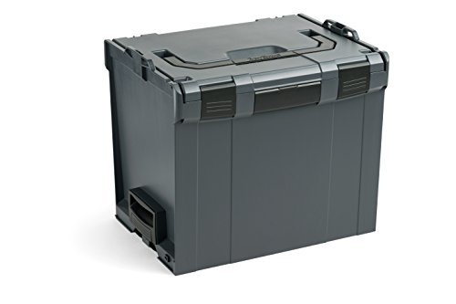 Bosch Sortimo L-Boxx 374 in Anthrazit Werkzeugkoffer Set | Innovatives Transportsystem | Bosch Werkzeugkoffer Größe 4 Leer | Kompatibel mit L-Boxx