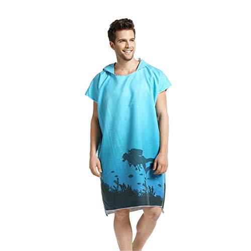 Poncho de toalla con capucha para adultos Modo de buceo con capucha...