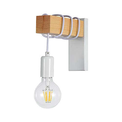 Lampada da Parete Retrò, Applique Vintage, E27 Lampada da Lettura per per Corridoio,Camera da letto,Soggiorno