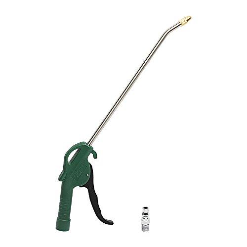 MPLUS 10' Air Blow Gun w/Adaptor Brass Tip Powerful Pneumatic Tool Blowing Dust Gun for Car and Other Machines