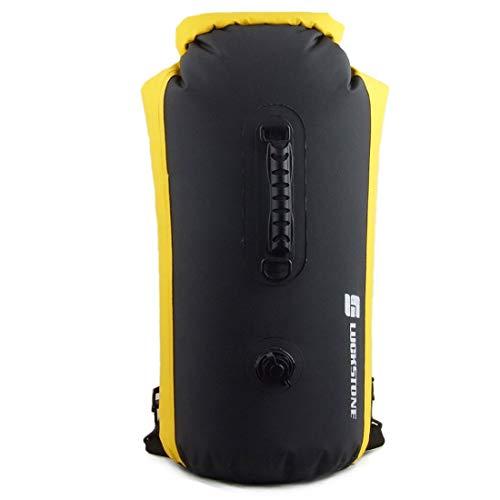 Sanmum Bolsas Estancas 25L/35L/60L Bolso Seco/Bolsa Seca Impermeable con Correa Ajustable Larga para Viajar Rafting Kayak Canotaje Camping Snowboard (Negro,60L)