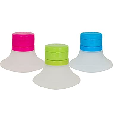 Evriholder Dressing to Go Salad Dressing Containers, Mini Food Storage Containers, Small Dip, Condiment, or Sauce Containers, Leak-Resistant, Set of 3 in Various Colors