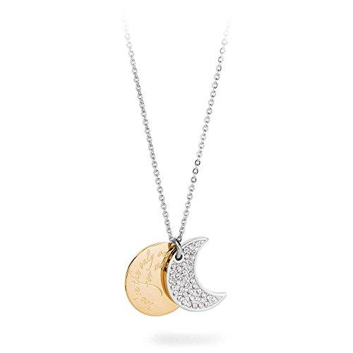 SFO01 S'agapò Collana da Donna Collezione Fortune con Luna Pendente