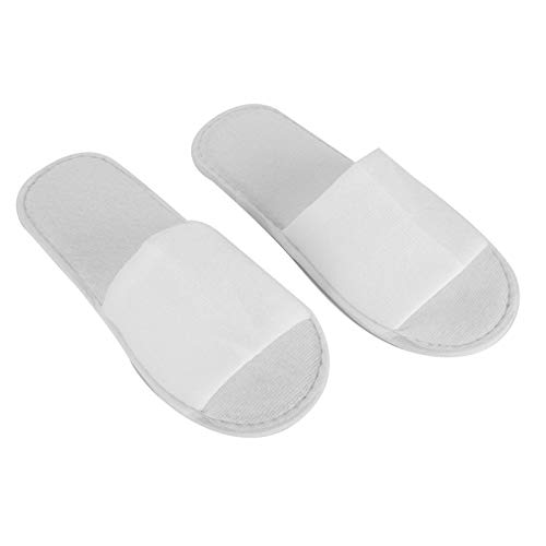 Omabeta 10 Pares de Zapatillas Desechables, Suaves y cómodas, Zapatillas Desechables, Zapatillas de SPA, Zapatillas Blancas para huéspedes, para Viajes de Hotel, Centro de SPA