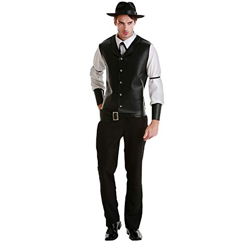 Daring Desperado Men's Halloween Costume - Western Gunslinger Outfit (Medium)