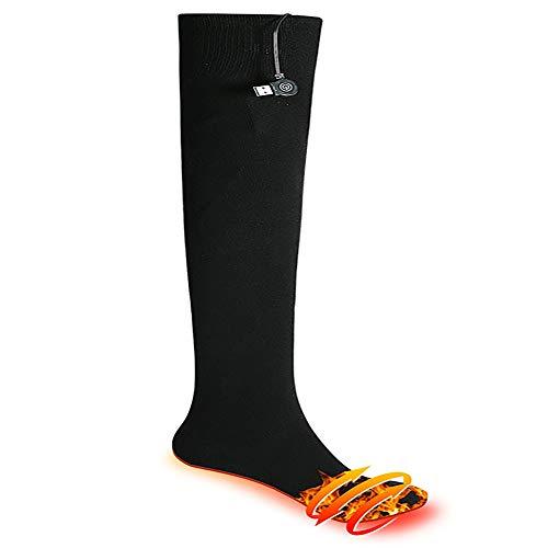 Yaunli Chaussettes chauffées Rechargeables Socks Chauffants for Les Femmes Hommes Temps Froid Chaussettes Thermal Sports de Plein air Camping Chaussettes chauffantes Rechargeables