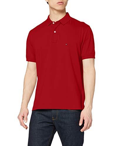 Tommy Hilfiger Herren Tommy Regular Polo Hemd, Arizona Red, M