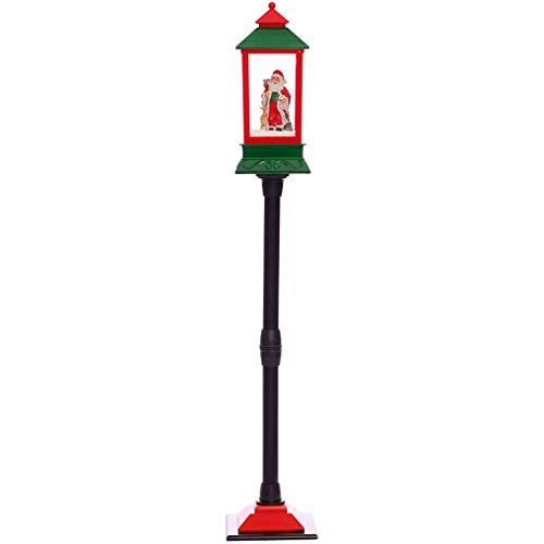Moll Lampione Stradale di Natale 125CM, Lanterna per Luce Notturna, Lampioncino da Giardino per...