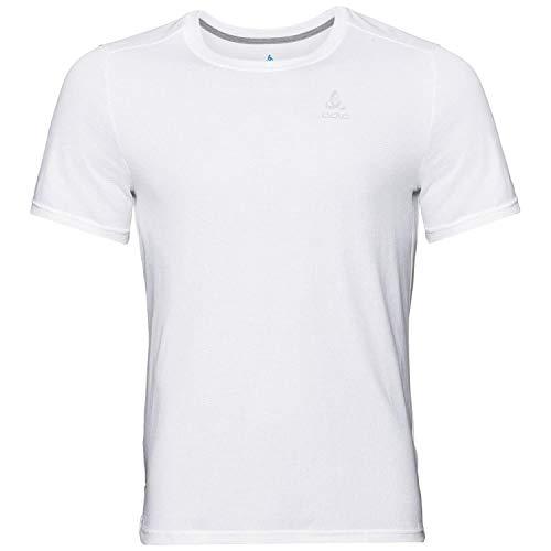 Odlo Herren T-Shirt s/s Crew Neck F-Dry, White, L