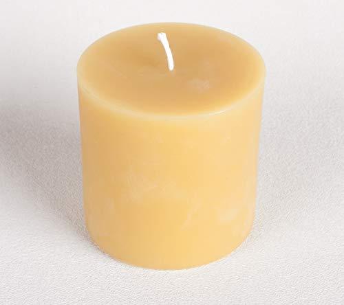 "3"" x 3"" Handmade 100% Pure Beeswax Round Pillar Candle 100% Cotton Wick"
