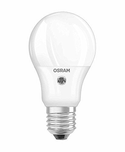 OSRAM Ampoule LED DAYLIGHT SENSOR, Forme Classique, Culot E27, 5W Equivalent 40W, 220-240V, Capteur de Luminosité, dépolie, Blanc Chaud 2700K, Lot de 1 pièce