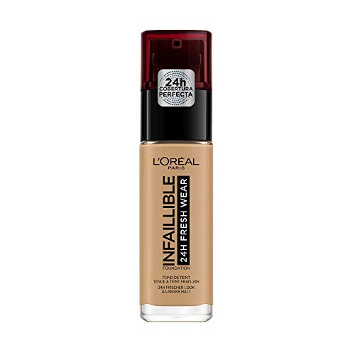 L'Oréal Paris 24H Infallible, Fondotinta, 260 Golden Sun, 30 ml