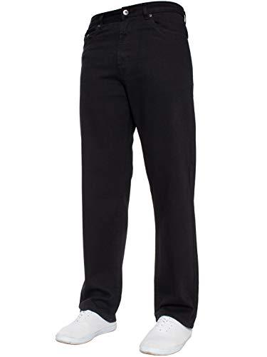 Blue Circle Herren gerades Bein Einfach schwer Works Jeans Denim Hose alle Hüfte große Größen erhältlich in 4 Farben - Schwarz, 38W x 28L