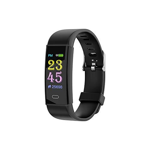 TTCXDP Fitness Tracker, Tracker di attività Schermo a Colori Monitor della frequenza cardiaca Sonno IP67 Impermeabile Chiamata SMS promemoria Compatibile Android iOS Ragazzi e Ragazze,Black