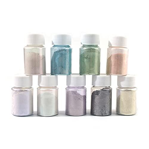 HANLILI kasu Tintura for pigmenti in Resina Polvere polarizzante UV. Resina epossidica Fai da Te 9. Colori coloranti Candela for Make- up Chiodi ECC. Abito Regalo Fatto in casa