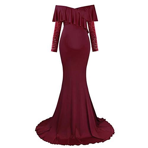 Vestido de maternidad, maxi vestido para mujeres embarazadas, sin hombros, elegante, para...