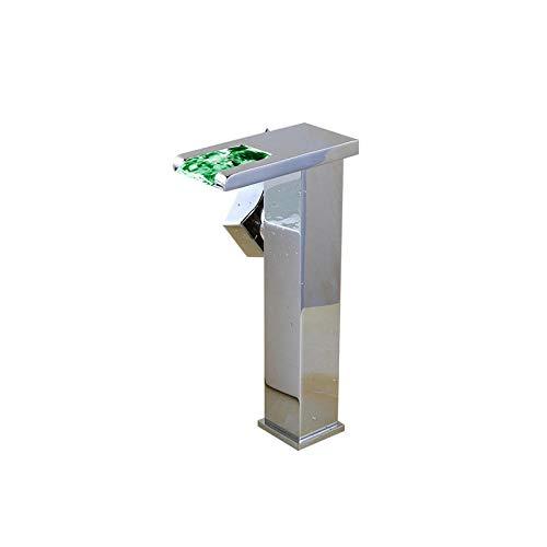 Moderne Home Küche und Bad Armatur Mischbatterie Küche Badezimmer Kreative Wasserfall LED beleuchtet Waschbecken Wasserhahn Badezimmer Einlochmontage Waschbecken Waschbecken Kaltwasserhahn