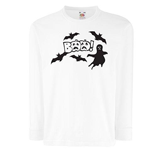 Camisetas de Manga Larga para Niño BAAA! - Funny Halloween Costume Ideas, Cool Party Outfits (5-6 Years Blanco Multicolor)