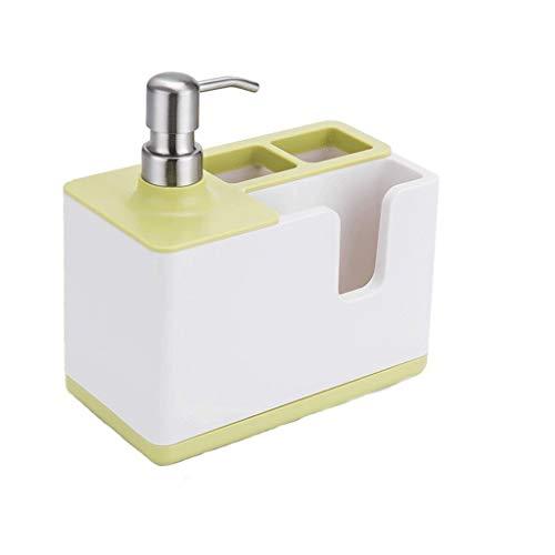 Huishoudelijke zeepdispenser Multifunctionele Vloeibare Zeep Dispenser & Opbergdoos Organizer Tandpasta Tandenborstel Dispenser Badkamer Accessoires