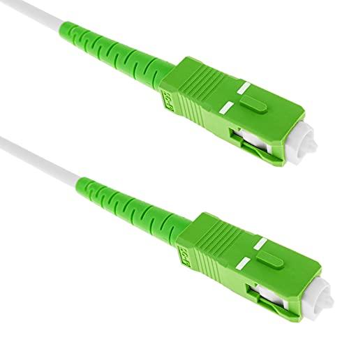 BeMatik - Cable de Fibra óptica SC/APC a SC/APC monomodo simplex 9/125...