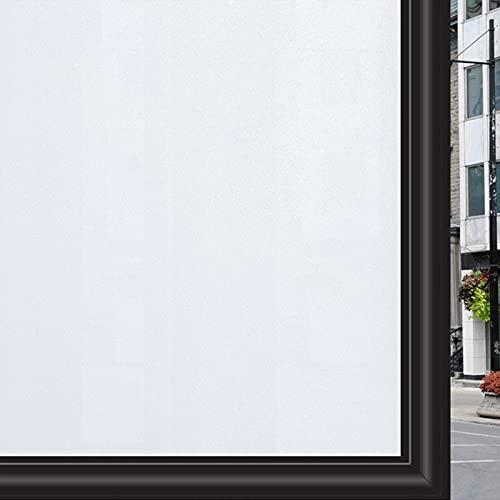 Zindoo Vinilos para Ventanas 44.5 X 200 cm Vinilos para Cristales Blanco Mate Vinilos Decorativos Cristales Laminas para Ventanas Privacidad del Bano