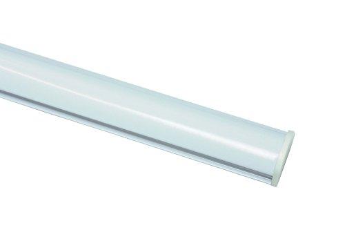 Gardinia Unterprofil zum Klipsen für Flächenvorhänge, Inklusive Klebestreifen, Aluminium, 60 cm, Weiß