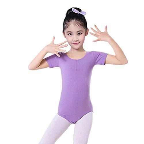 Mrytiuoperg Kinderdanskleding Korte mouwen Praktijkkleding Meisjes Gymnastiek Past uit één stuk Praktijkkleding Kinderballet Kleding