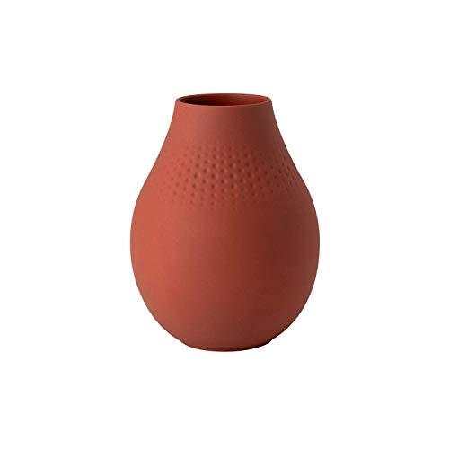 Villeroy & Boch 10-1685-5513 Manufacture Collier jarrón Perle, florero para cómodas y mesas de Fiesta, Porcelana, Lavado a Mano, Terre, Grande
