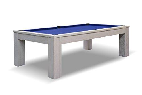 John West Pool Billardtisch Weiß, 8 ft 254 x 142 cm groß, neu mit Schieferplatte inkl. Montage